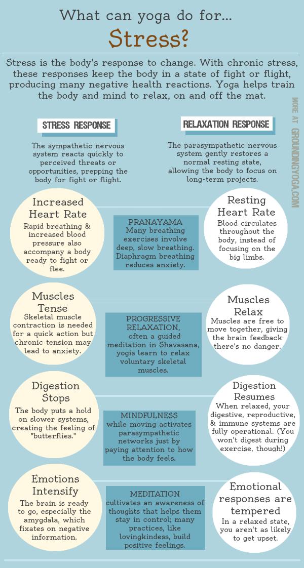 (December) Yoga & Stress Infographic